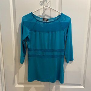 Bebe Turquoise Contrast Top Size Medium